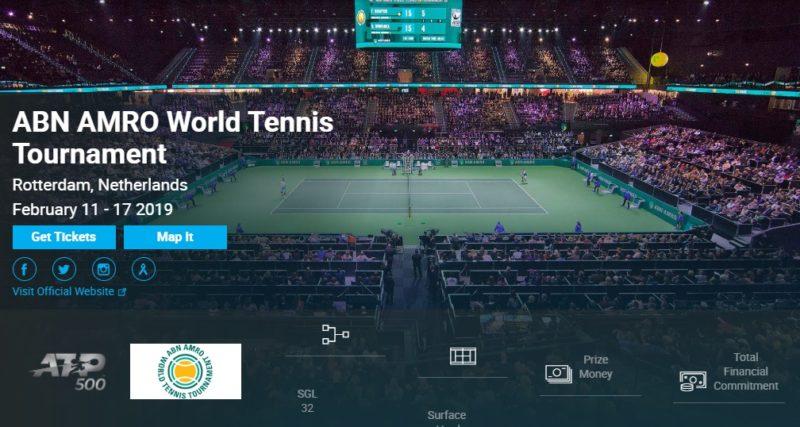 ABNアムロ世界テニス2019 錦織圭・結果速報・日程テレビ放送・出場選手ドロー