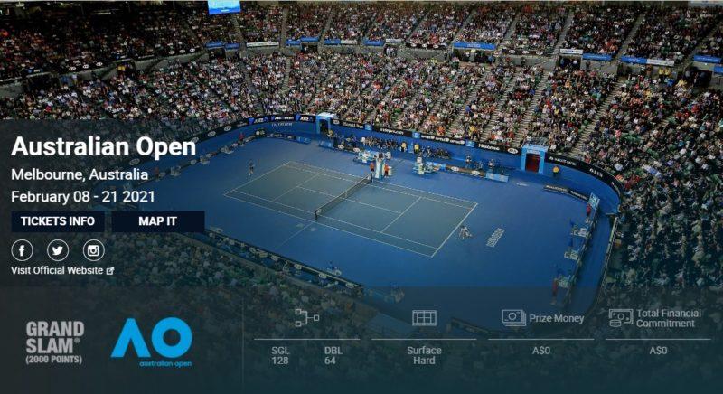 全豪オープンテニス2021結果速報・錦織圭出場・テレビ放送