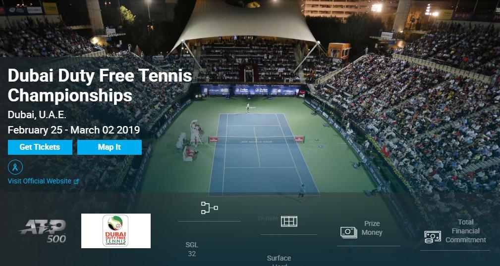 ドバイ・テニス選手権2019 錦織圭・結果速報・日程放送ドロー