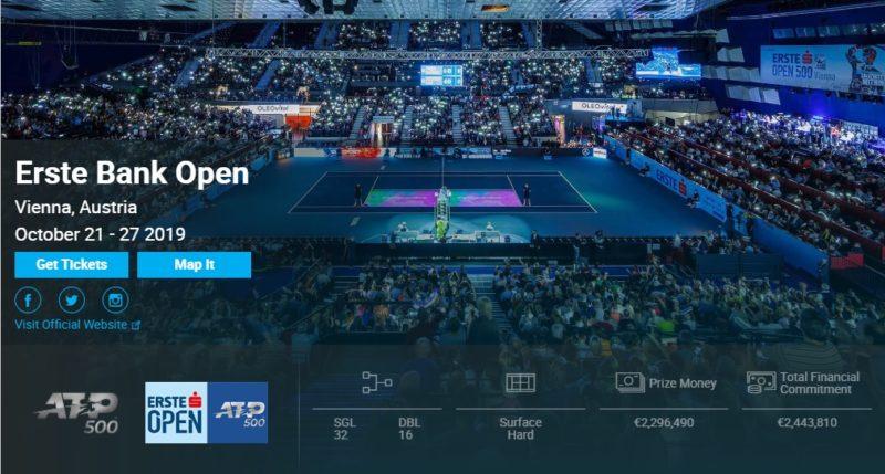 テニス・エルステ・バンク・オープン2019結果速報・錦織圭・ウィーン