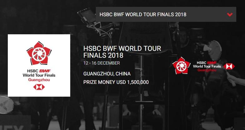 BWFワールドツアーファイナルズ2018 桃田賢斗・結果速報ドロー・日程出場選手賞金・バドミントン!