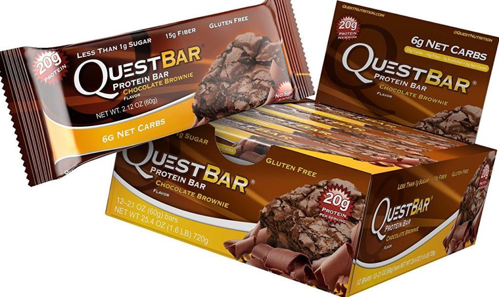 【Quest Nutrition】プロテインバー チョコレートブラウニー 12本