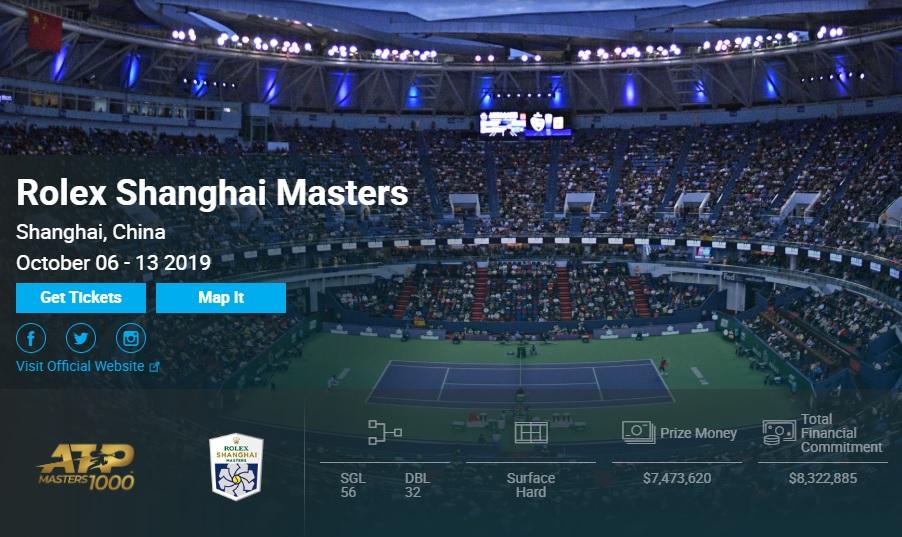 テニス上海マスターズ2019 結果速報・錦織圭・出場選手日程