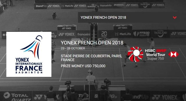 フランスオープン2018 桃田賢斗・試合結果速報・日程テレビ放送賞金・バドミントン!