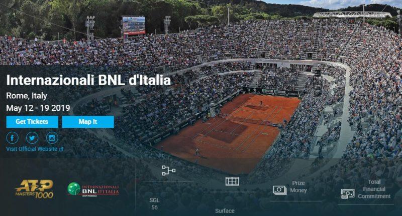BNLイタリア国際2019ローマ 錦織圭・結果速報ドロー・日程放送