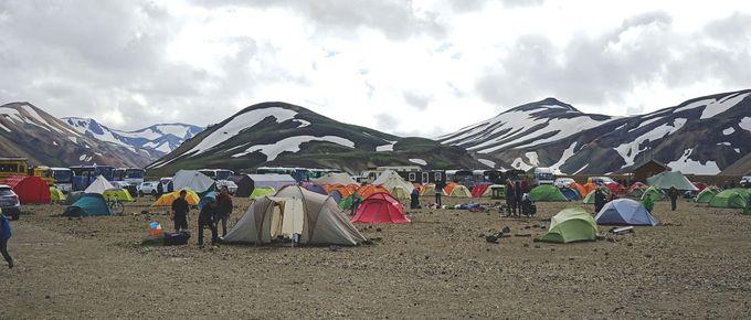 登山テントの設営と撤収