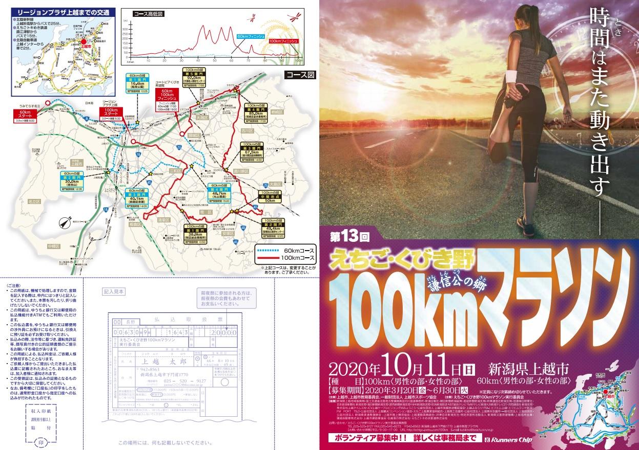 えちご・くびき野100kmマラソン2020結果速報・エントリー・日程コース