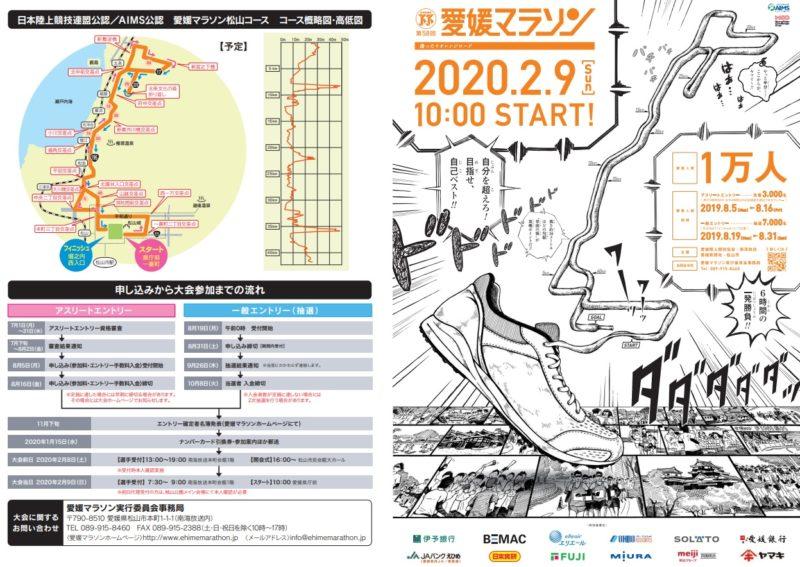 愛媛マラソン2020結果速報・日程コース・招待選手