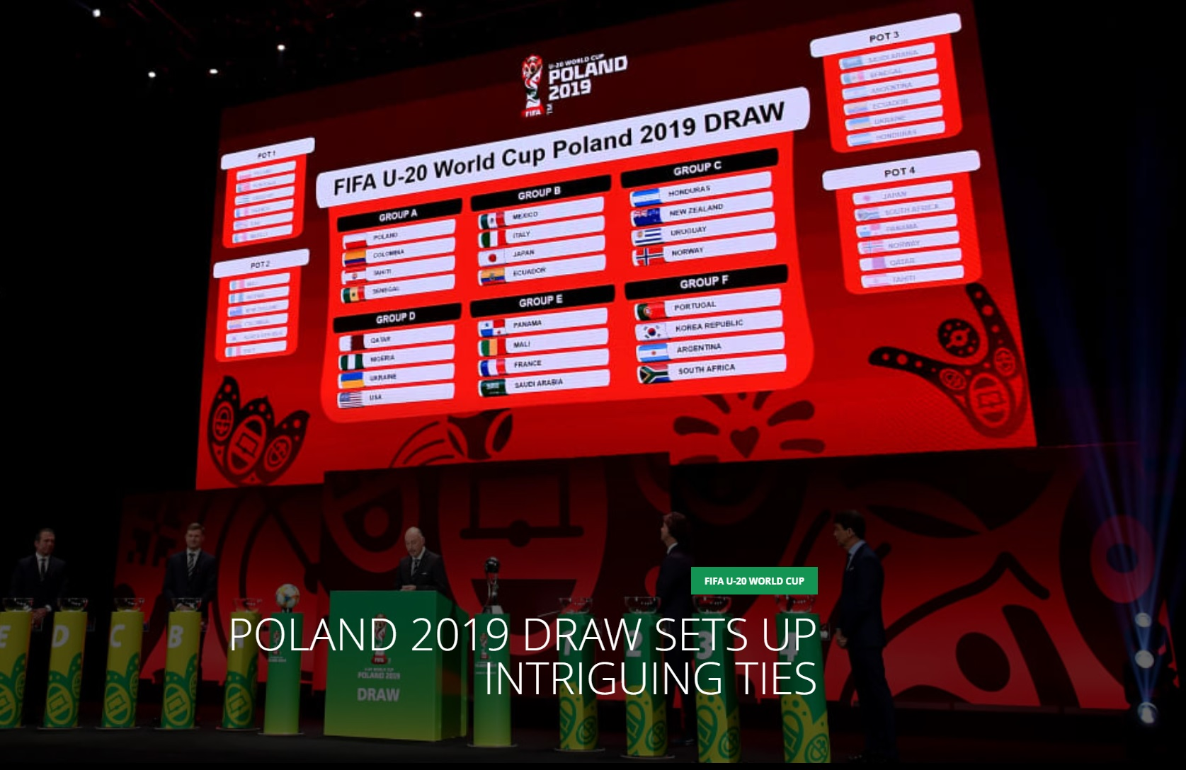 2019 FIFA U-20ワールドカップ 結果速報・日程選手・組み合わせ