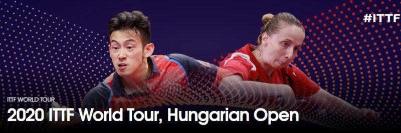 卓球ハンガリーオープン2020結果速報・出場選手・日程ドロー