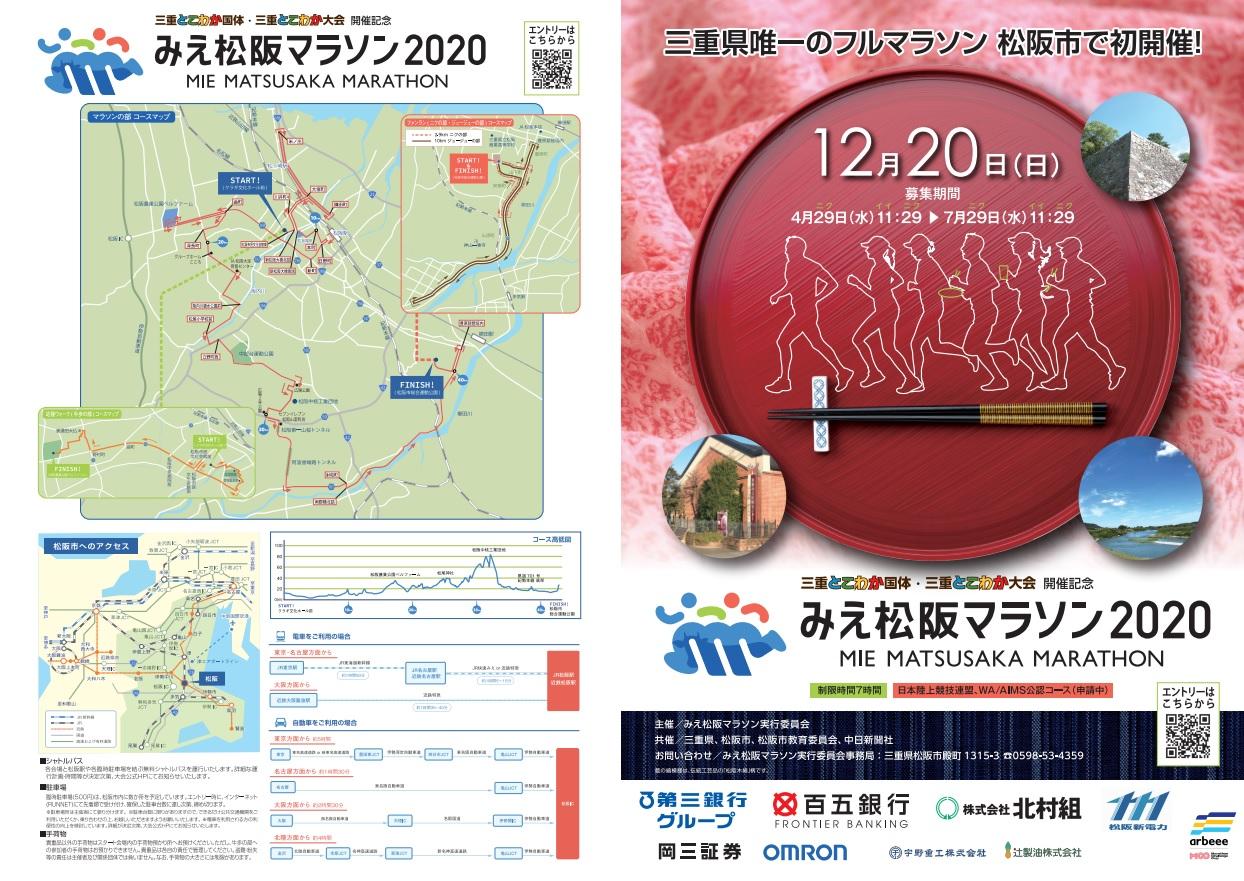 みえ松阪マラソン2020結果速報・エントリー・日程コース