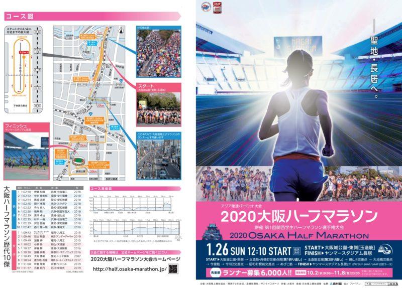 大阪ハーフマラソン2020結果速報・日程コース・関西学生ハーフマラソン