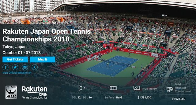 楽天ジャパンオープン2018 試合結果速報・チケット日程優勝賞金・ATPテニス!
