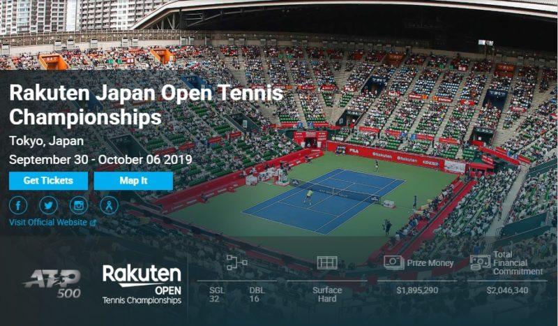 楽天ジャパン オープン2019 錦織圭 結果速報ドロー 日程放送