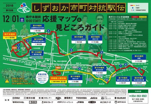 第19回しずおか市町対抗駅伝2018 結果速報順位・日程静岡県コース!