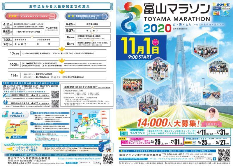 富山マラソン2020結果速報・エントリー・日程コース