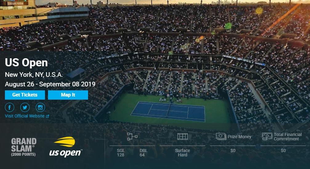 テニス全米オープン2019 錦織圭・結果速報ドロー・日程テレビ放送・賞金