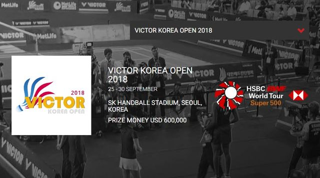 韓国オープン2018 桃田賢斗・試合結果速報・日程テレビ放送賞金・バドミントン!